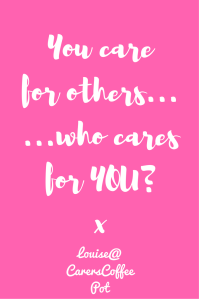 You care for others